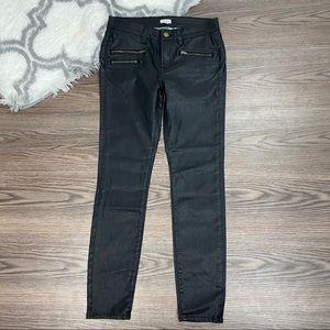 J. Crew Waxed Skinny Jeans Size 26